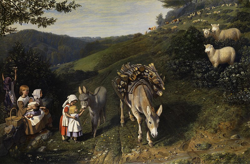 Archivo: Friedrich Wilhelm Keyl Familie en idyllischer Landschaft 1856.jpg