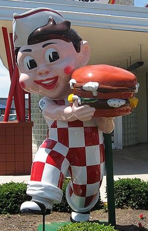 "Frisch's - An ""East Coast"" Big Boy statue exclusive to many Frisch's restaurants."