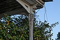 Front porch pole at farmhouse at Kelvin A. Lewis farm in Creeds 4.jpg