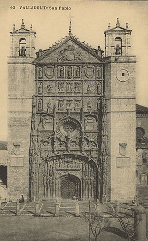 Iglesia de San Pablo, Valladolid - Old Postcard of the church.