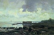 Fyodor Vasilyev The Ladoga shore Cloudy day 11003.jpg