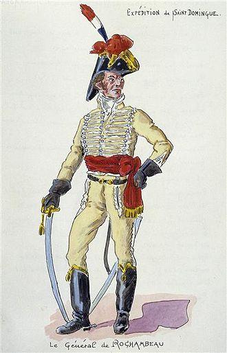 Donatien-Marie-Joseph de Vimeur, vicomte de Rochambeau - General de Rochambeau in Saint Domingue