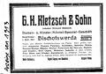 G.H. Kletzsch & Sohn 1913.jpg