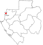 Map of the Gabon showing Libreville.