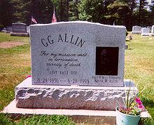 La tomba di GG Allin.