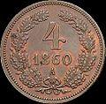 GOW 4 kreuzer 1860 A reverse.jpg