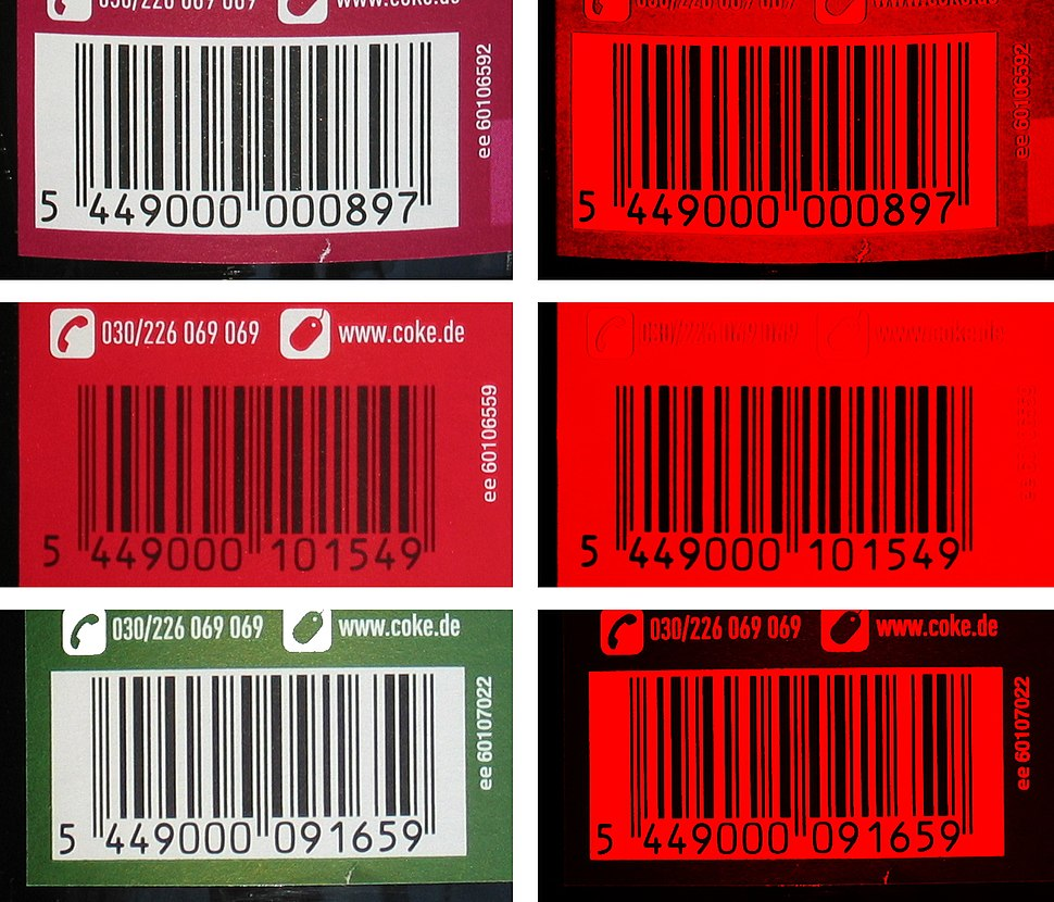 GTIN Barcodes of coke bottles - what you see and what the barcode scanner see 2 IMG 2908 2913 2919