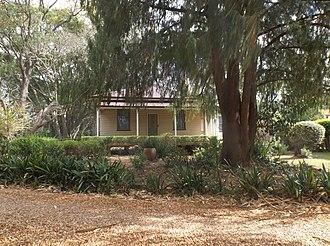 Middle Ridge, Queensland - Entrance building to Gabbinbar homestead, 2014