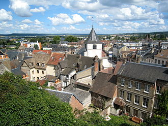 Gaillon - View of Gaillon from the castle