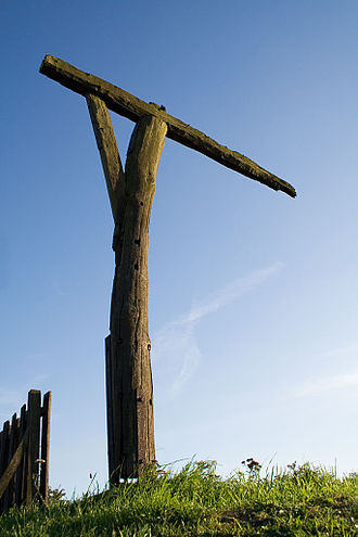 Gibbeting - The reconstructed gallows-style gibbet at Caxton Gibbet, in Cambridgeshire, England
