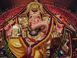 Murtis or deities and their worship (puja) play a crucial role in Hinduism. Shown here is the popular figure of Ganesha