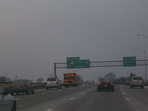 New Jersey Route 19 - Old exit 155P for Route 19 on northbound Garden State Parkway. This exit was resigned as 155A in 2016.
