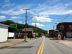 Garrett, Pennsylvania, looking east on PA 653 (Jackson St).