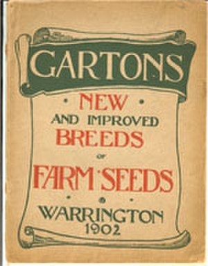 Plant breeding - Garton's catalogue from 1902