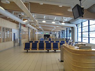Harstad/Narvik Airport, Evenes - Departure hall of the airport