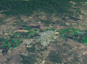 Gatton, Queensland - A Landsat montage of Gatton township