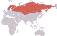 Gavia arctica distribution map