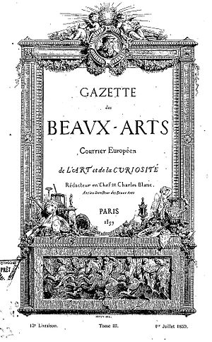 Gazette des Beaux-Arts - Gazette des Beaux-Arts First year, volume III, 1 July 1859.