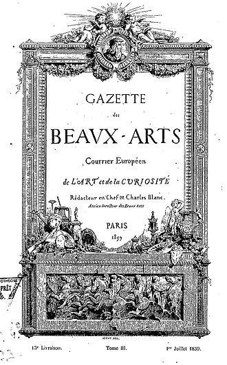 Gazette des Beaux-Arts - Gazette des Beaux-Arts First year, volume III, 1 July 1859.