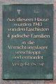 Gedenktafel Berliner Allee 62 (Weißs) Jüdische Bewohner.jpg