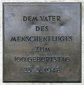 Gedenktafel Eduard-Spranger-Promenade (Lichtf) Otto Lilienthal 3.jpg