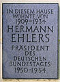 Gedenktafel Poschingerstr 6 (Stegl) Hermann Ehlers.JPG