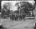 Gen. William F. Smith and staff of eight. -Recognized-, Gen. Adelbert Ames, Capt. Elder, Capt. C.P. F. West, Col.... - NARA - 524458.tif