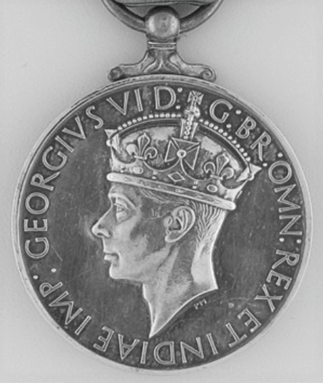 George Medal, King George VI, first obverse