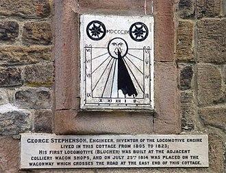 West Moor - Image: George Stephenson Sun Dial