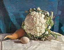 George Washington Lambert - Egg and cauliflower still life.jpg