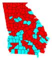 Georgia Lt. Gubernatorial Democratic primary, 2018.png