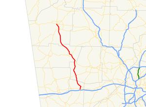 Georgia State Route 101 - Image: Georgia state route 101 map