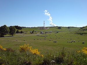 Geothermal power in New Zealand - New geothermal drilling north of Taupo (2007).