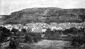 Mount Gerizim - Old view of Mount Gerizim