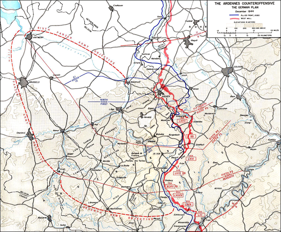 German Wacht Am Rhein Offensive Plan