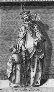 Gertrude of Saxony Countess consort of Holland and later Countess consort of Flanders