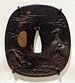 Giappone, periodo edo, tsuba (coprimano da elsa di spada), xviii e xix secolo, 01 gru.jpg
