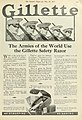 Gillette advert in the Literary Digest, May 19, 1917.jpg