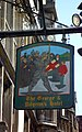 Glastonebury - The George Pilgrim´s Hotel, Inn sign.jpg