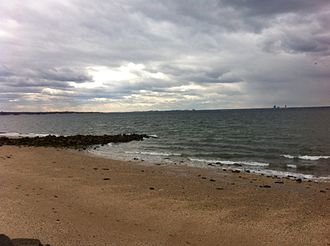 Glen Cove, New York - View of Long Island Sound to the north from Welwyn Preserve in Glen Cove