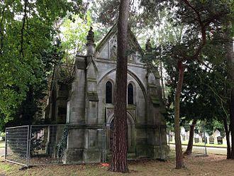 Algernon Borthwick, 1st Baron Glenesk - The Glenesk Mausoleum in East Finchley Cemetery in 2016.