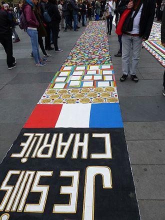 Je suis Charlie - Place de la République, Paris