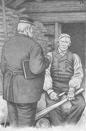 """Good day, fellow!"" ""Axe handle!"" - Illustration by Theodor Kittelsen"