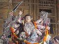 Goddess idol being adorned in Gosani Jatra, Puri.jpg