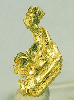 Round Mountain, Nevada - Crystalline gold specimen from Round Mountain Mine