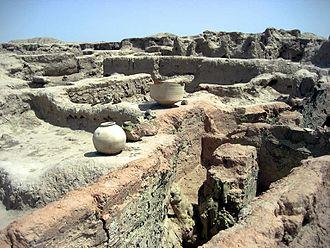 Gonur Tepe - Part of the Gonur Tepe ruins, 2011