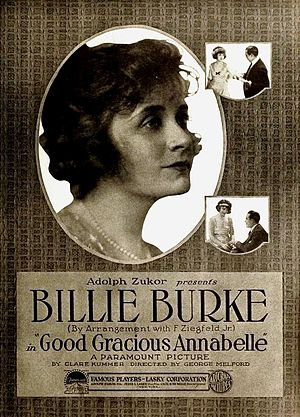 Clare Kummer - Good Gracious, Annabelle (1919), silent film poster crediting Clare Kummer