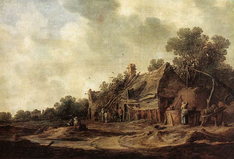File:Goyen 1633 Peasant Huts with a Sweep Well.jpg