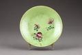 Grön tallrik gjord i Kina - Hallwylska museet - 95917.tif