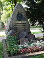 Grabstein von Willibald Alexis auf dem Alten Friedhof in Arnstadt.JPG